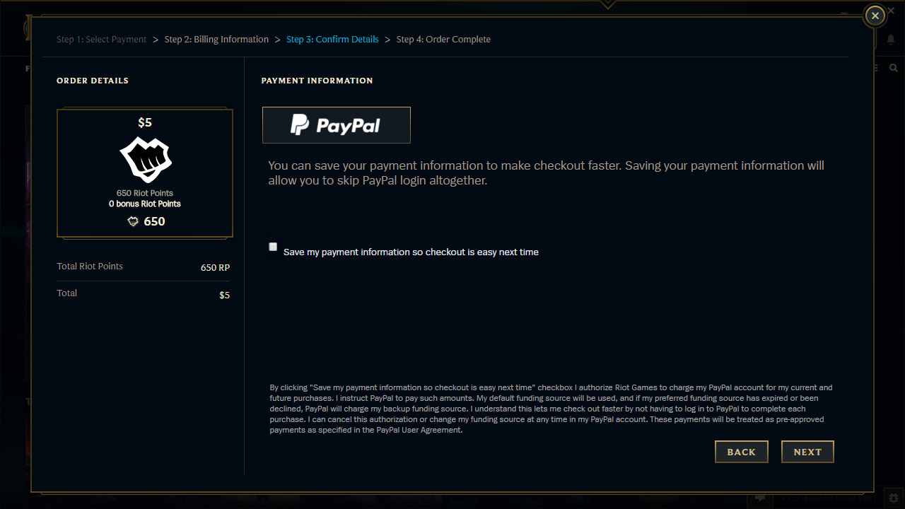 Paypal League Of Legends Support